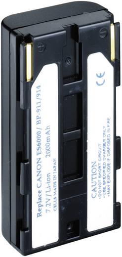 Kamera-Akku Conrad energy ersetzt Original-Akku BP-911, BP-914, BP-915, BP-924, BP-927, BP-930, BP-941, BP-945 7.4 V 2000 mAh