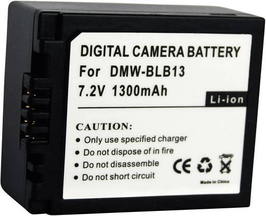 Kamera-Akku Conrad energy ersetzt Original-Akku BLB13 7.2 V 1000 mAh 250540