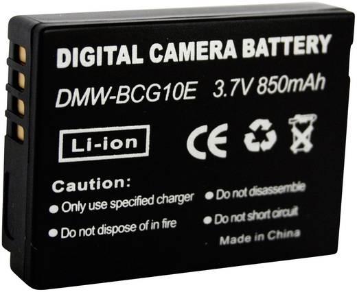 Kamera-Akku Conrad energy ersetzt Original-Akku DMW-BCG10e 3.7 V 700 mAh