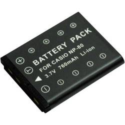 Náhradné batérie pre kamery Conrad Energy NP-80, 3,7 V, 500 mAh