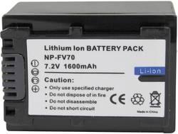 Náhradní baterie pro kamery Conrad Energy NP-FV70, 7,2 V, 1300 mAh
