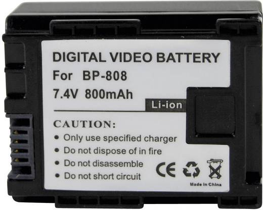 Kamera-Akku Conrad energy ersetzt Original-Akku BP-808 7.4 V 700 mAh