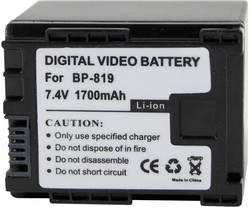 Náhradní baterie pro kamery Conrad Energy BP-819, 7,4 V, 1400 mAh