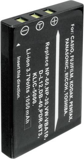 Kamera-Akku Conrad energy ersetzt Original-Akku NP-60, NP-30, KLIC-5000, D-L12, LI-20B, SLB-1037, SLB-1137 3.7 V 900 mAh