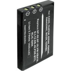 Li-Ion akumulátor pro videokameru FUJI NP-60, PENTAX D-L12, 3,7 V, 900 mAh, černá