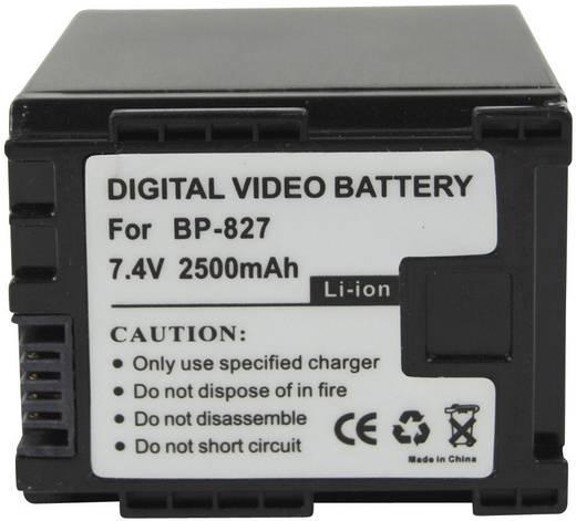 Kamera-Akku Conrad energy ersetzt Original-Akku BP-827 7.4 V 2100 mAh