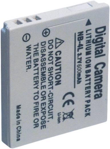 Kamera-Akku Conrad energy ersetzt Original-Akku NB-4L 3.7 V 600 mAh