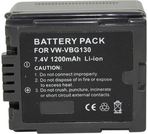 Kamera-Akku Conrad energy ersetzt Original-Akku VWVBG130 7.2 V 1000 mAh