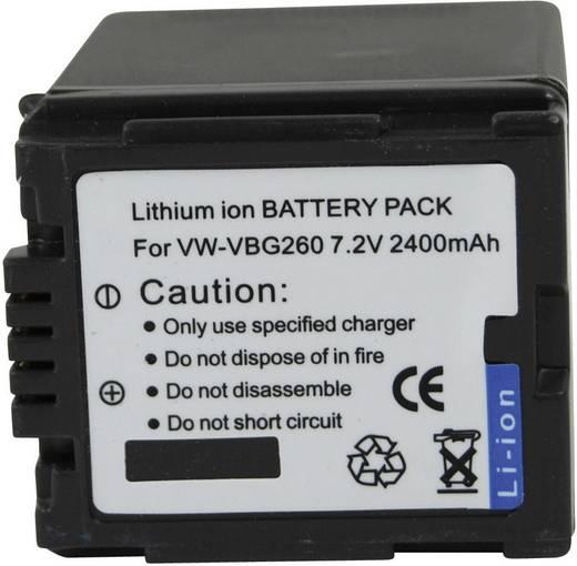 Kamera-Akku Conrad energy ersetzt Original-Akku VW-VBG260 7.2 V 2000 mAh