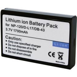 Náhradné batérie pre kamery Conrad Energy NP-120 / D-L17 / DB-43, 3,7 V, 1700 mAh