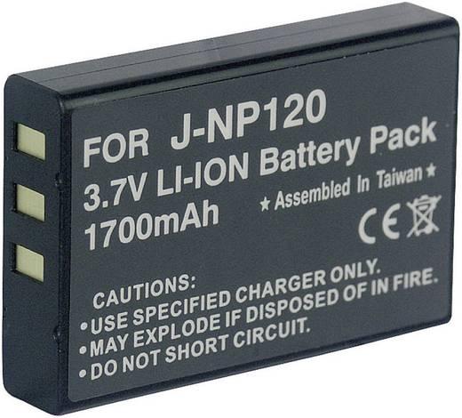 Kamera-Akku Conrad energy ersetzt Original-Akku NP-120, D-L17, DB-43 3.7 V 1700 mAh