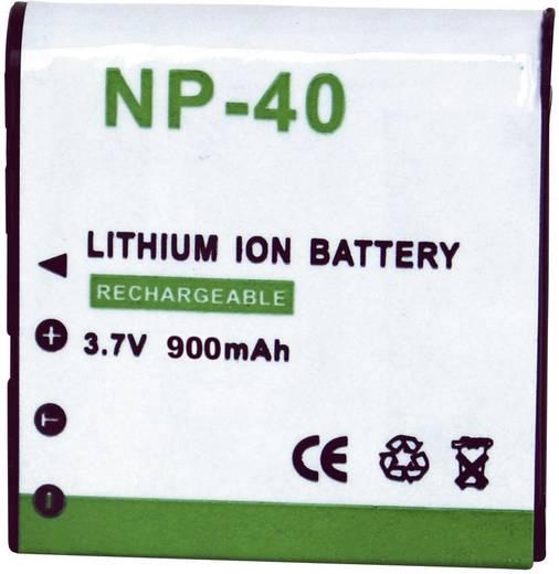 Kamera-Akku Conrad energy ersetzt Original-Akku NP-40 3.7 V 900 mAh