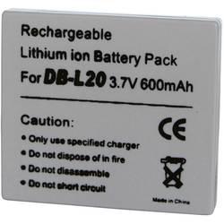 Li-Ion akumulátor pro videokameru SANYO DB-L20, 3,7 V, 600 mAh, tmavě šedá