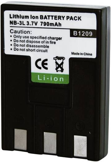 Conrad energy 250760 Kamera-Akku ersetzt Original-Akku NB-3L 3.7 V 650 mAh