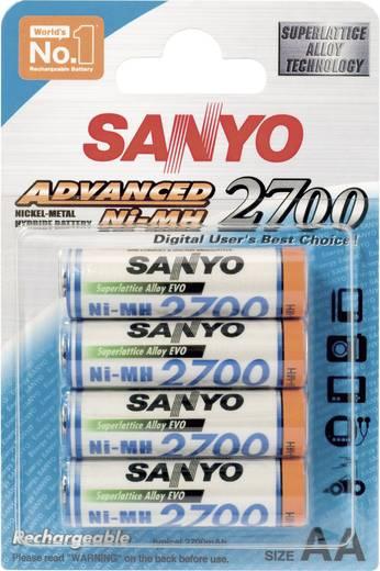 Sanyo NiMH Mignon-Akku 2700 mAh, 4er-Set