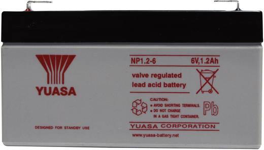 Yuasa NP1.2-6 NP1.2-6 Bleiakku 6 V 1.2 Ah Blei-Vlies (AGM) (B x H x T) 97 x 55 x 25 mm Flachstecker 4.8 mm Wartungsfrei