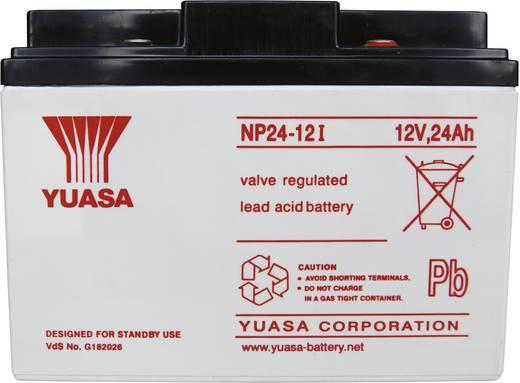Bleiakku 12 V 24 Ah Yuasa NP24-12 NP24-12 Blei-Vlies (AGM) (B x H x T) 166 x 125 x 175 mm M5-Schraubanschluss Wartungsfrei, VDS-Zertifizierung