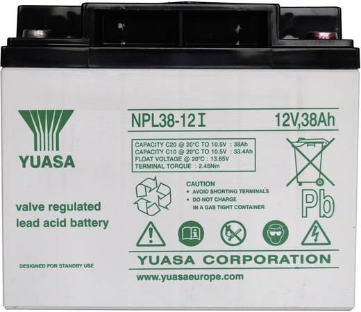 Yuasa NPL38-12 YUANPL38/12 Bleiakku 12 V 38 Ah Blei-Vlies (AGM) (B x H x T) 197 x 170 x 165 mm M5-Schraubanschluss Wartu