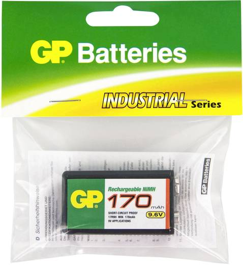 GP Batteries 6LR61 9 V Block-Akku NiMH 170 mAh 9.6 V 1 St.