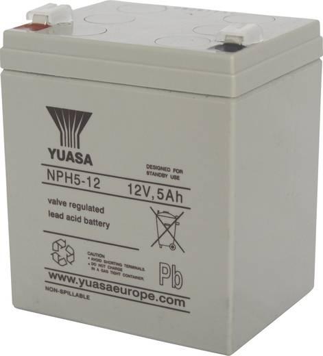 Yuasa NPH 5-12 NPH 5-12 Bleiakku 12 V 5 Ah Blei-Vlies (AGM) (B x H x T) 90 x 106 x 70 mm Flachstecker 6.35 mm Wartungsfr