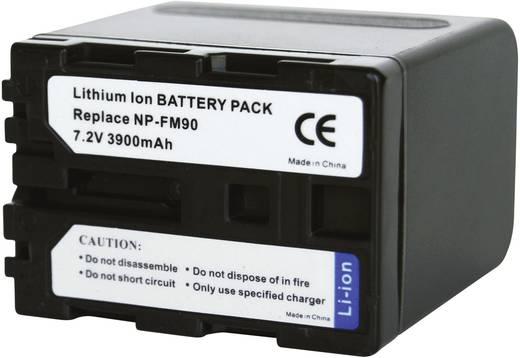 Kamera-Akku Conrad energy ersetzt Original-Akku NP-FM90, NP-QM91 7.2 V 3900 mAh 250913