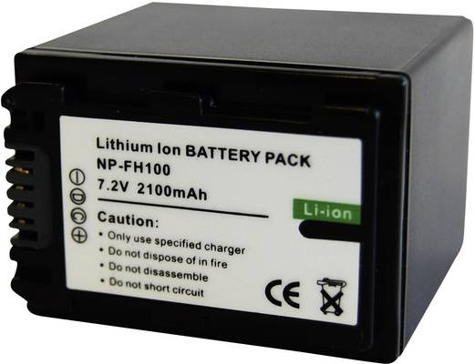 Kamera-Akku Conrad energy ersetzt Original-Akku NP-FH100 7.2 V 2100 mAh 250969