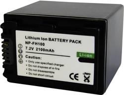 Náhradní baterie pro kamery Conrad Energy NP-FH100, 7,2 V, 2100 mAh