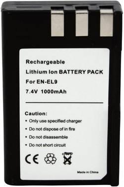 Li-Ion akumulátor pro videokameru Nikon EN-EL9, 7,4 V, 900 mAh, tmavě šedá
