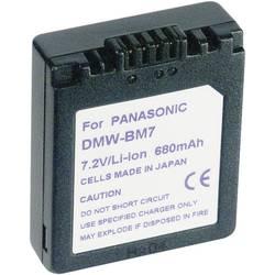 Li-Ion akumulátor pro Panasonic CGA-S002/DMW-BM7, 7,2 V, 600 mAh, černá