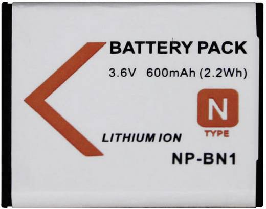 Kamera-Akku Conrad energy ersetzt Original-Akku NP-BN1 3.6 V 500 mAh NPBN1