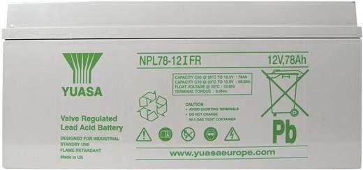 Yuasa NPL78-12 YUANPL78-12IFR Bleiakku 12 V 78 Ah Blei-Vlies (AGM) (B x H x T) 380 x 174 x 166 mm M8-Schraubanschluss Wa