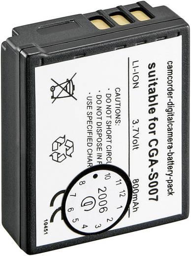 Kamera-Akku Conrad energy ersetzt Original-Akku CGA-S007, CGA-S007E 3.7 V 900 mAh 250985