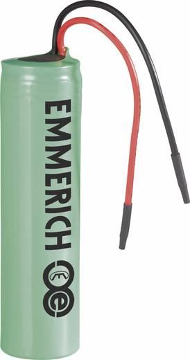 Spezial-Akku 18650 Kabel Li-Ion Emmerich ICR-18650NQ-SP 3.7 V 2600 mAh