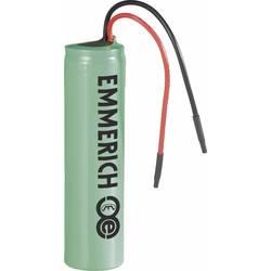 Speciální akumulátor Emmerich NCR18650A, 18650, s kabelem, Li-Ion akumulátor, 3.6 V, 3100 mAh