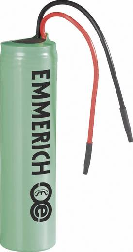 Spezial-Akku 18650 Kabel Li-Ion Emmerich ICR-18650NH-SP 3.7 V 2200 mAh