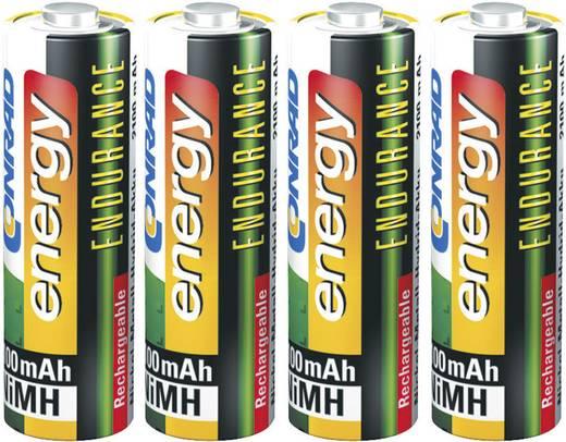Rundzellen-Ladegerät NiMH inkl. Akkus Conrad energy BC-300 + Endurance Micro (AAA), Mignon (AA)