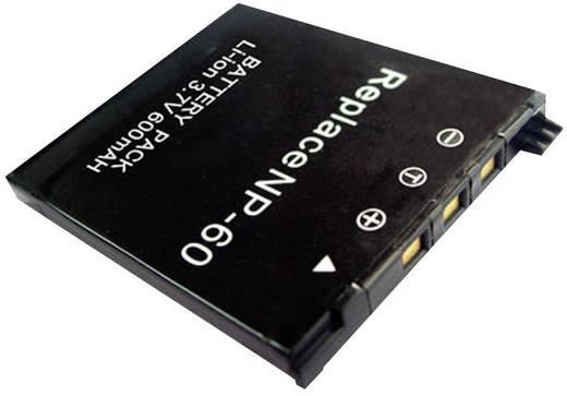 Kamera-Akku Conrad energy ersetzt Original-Akku NP-60 3.7 V 500 mAh