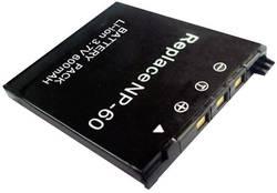 Náhradní baterie pro kamery Conrad Energy NP-60, 3,7 V, 500 mAh