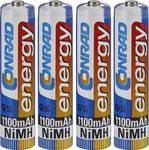 Micro (AAA)-Akku NiMH Conrad energy HR03 1100 mAh 1.2 V 4 St.