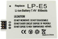 Náhradní baterie pro kamery Conrad Energy LP-E5, 7,4 V, 800 mAh