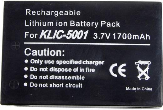 Conrad energy 251141 Kamera-Akku ersetzt Original-Akku KLIC-5001 3.7 V 1500 mAh