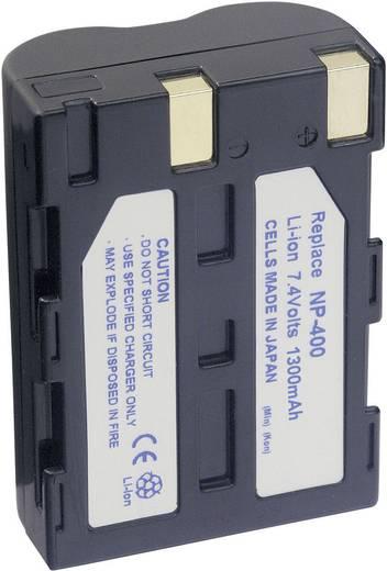 Kamera-Akku Conrad energy ersetzt Original-Akku NP-400 7.4 V 1300 mAh 251174