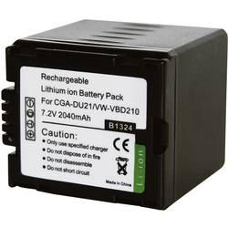 Li-Ion akumulátor pro Panasonic CGA-DU21E, 251177, 7,2 V, 1800 mAh, černá