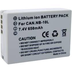 Náhradné batérie pre kamery Conrad Energy NB-10L, 7,4 V, 650 mAh