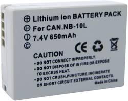 Náhradní baterie pro kamery Conrad Energy NB-10L, 7,4 V, 650 mAh