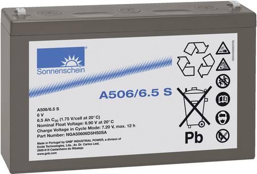 Bleiakku 6 V 6.5 Ah GNB Sonnenschein A506/6,5 S NGA50606D5HS0SA Blei-Gel (B x H x T) 152 x 99 x 35 mm Flachstecker 4.8 m