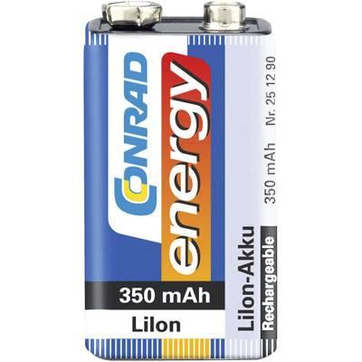 9 V Block-Akku Li-Ion Conrad energy 6LR61 350 mAh 7.4 V 1 St. Preisvergleich