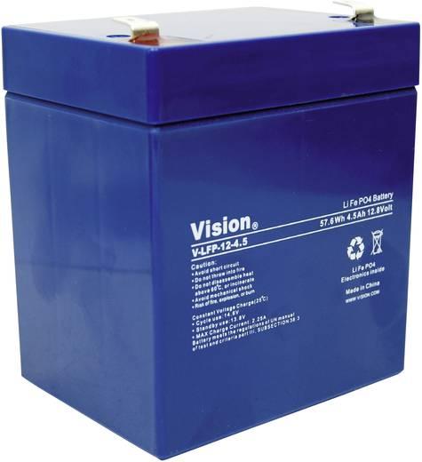 Spezial-Akku LiFePo-Block Flachstecker LiFePO 4 Vision Akkus LFP124.5T 12 V 4.5 Ah