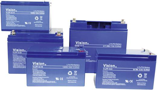 Vision Akkus LFP124.5T Spezial-Akku LiFePo-Block Flachstecker LiFePO 4 12.8 V 4500 mAh