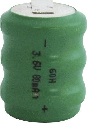 Knopfzellen-Akku 60H NiMH Emmerich 60 H, ZLF 80 mAh 3.6 V 1 St.